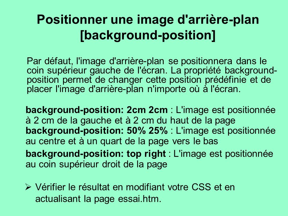 Positionner une image d arrière-plan [background-position]